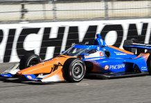 Scott Dixon at Richmond Raceway. (IndyCar photo)