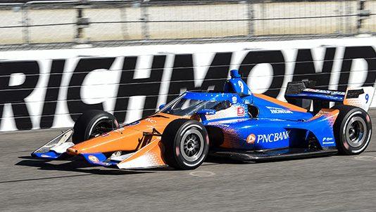 Scott Dixon at Richmond Raceway. (IndyCar photo)