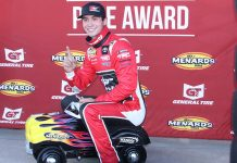 Tanner Gray claimed the pole for Friday's ARCA finale at Kansas Speedway. (ARCA Photo)