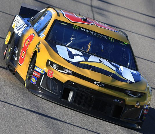 Daniel Hemric had the fastest lap of the day during Monster Energy NASCAR Cup Series practice at Kansas Speedway. (HHP/Jeff Flurharty Photo)