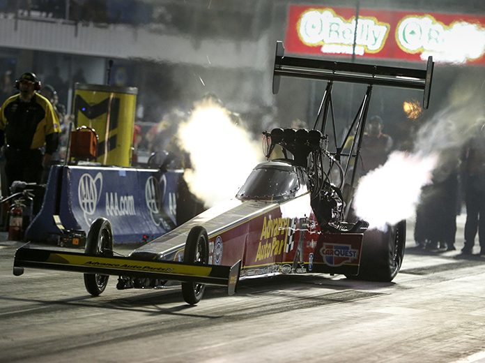 Brittany Force set a track elapsed time record during NHRA qualifying Friday at the Texas Motorplex. (NHRA Photo)