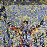 Christian Eckes celebrates after claiming the ARCA Menards Series championship Friday at Kansas Speedway. (ARCA Photo)