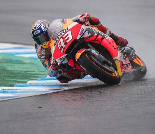 Marc Marquez earned his 10th MotoGP pole of the season Saturday in Japan. (Honda Photo)