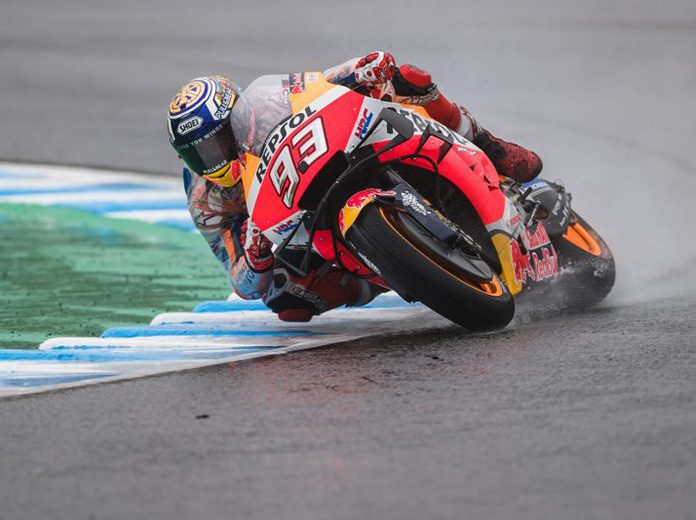 Marc Marquez earned his 10th MotoGP pole of the season Saturday in Japan. (Honda Photo)
