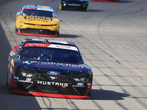 Cole Custer (00) on track Saturday at Kansas Speedway. (HHP/Jeff Fluharty Photo)