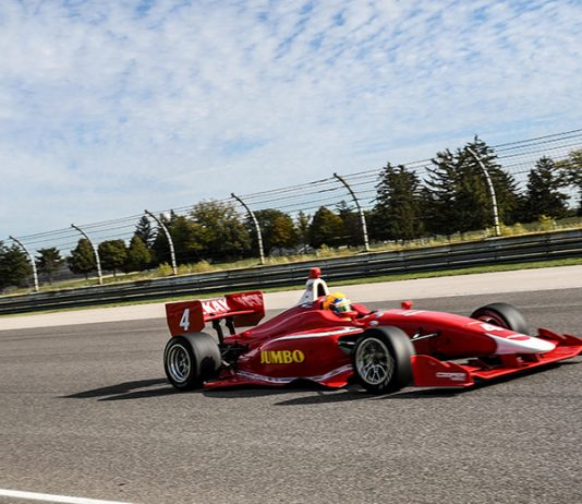 Rinus VeeKay was the fastest driver in the Indy Lights class during the opening day of the Chris Griffis Memorial Road to Indy Test.