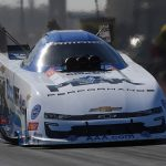 John Force paced Funny Car qualifying at the Texas Motorplex. (NHRA Photo)