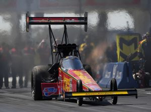 Brittany Force joined her father, John, as a top qualifier for the NHRA FallNationals at the Texas Motorplex. (NHRA Photo)
