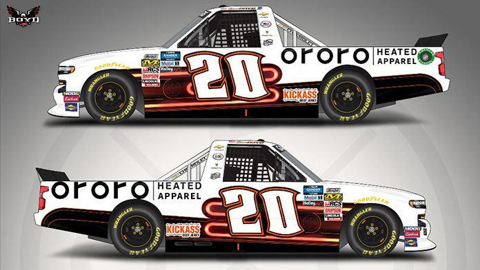 ORORO Heated Apparel will back Spencer Boyd at Martinsville Speedway.