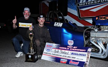 Keith Cleveland won the Top Dragster world championship during the IHRA Summit SuperSeries World Finals.