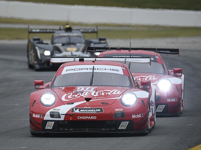 The Coca-Cola Porsche livery was a big hit during the Petit Le Mans. (IMSA Photo)