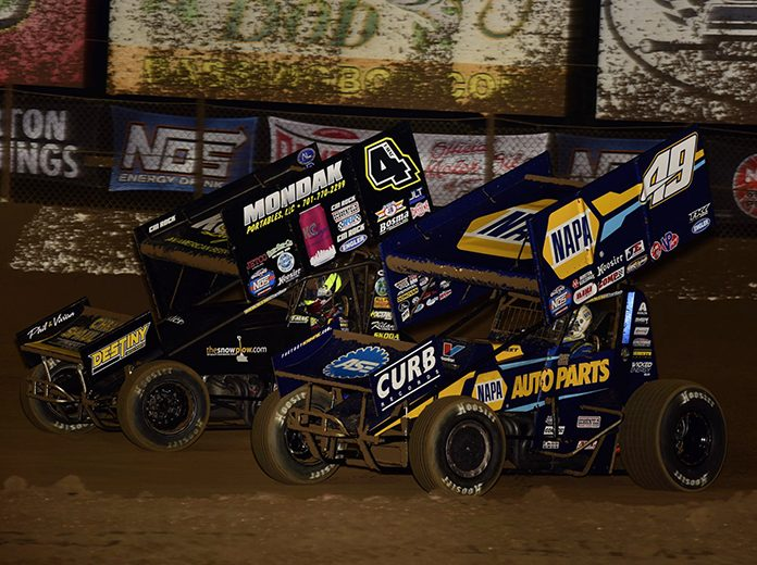 Brad Sweet (49) remains on top of the National Sprint Car Rankings for the seventh-straight week. (Mark Funderburk Photo)