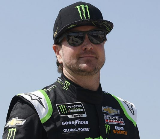 Kurt Busch has been named the third quarter winning of the NMPA Spirit Award. (HHP/Ashley Dickerson Photo)