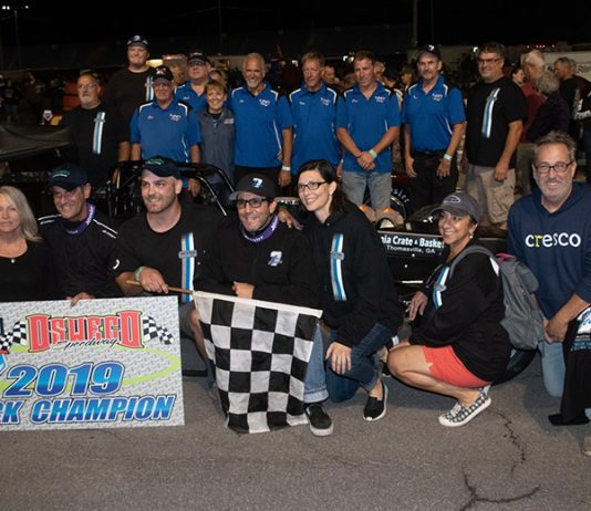 A consistent season helped Otto Sitterly claim his ninth Oswego Speedway championship this year. (Alex Borland Photo)