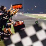 Jonathan Rea races towards the checkered flag on Friday at Losail Int'l Circuit. (WorldSBK Photo)