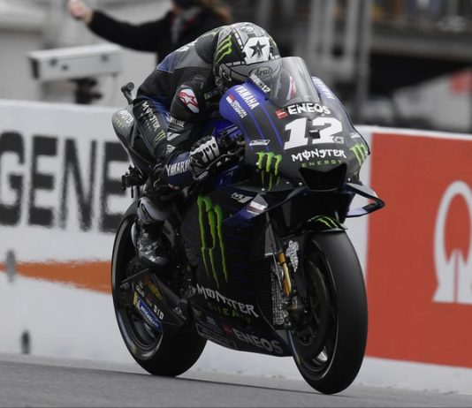 Maverick Vinales is on the pole for Sunday's MotoGP event in Australia. (Yamaha Photo)