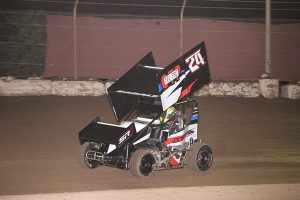 Caden Sarale won the 2019 Super 600 track title and Turkey Bowl XIX win (Chris Cleveland photo)