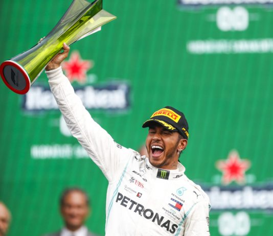 Lewis Hamilton used a strategy call to win the Mexican Grand Prix on Sunday. (Mercedes Photo)