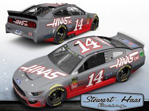 Tony Stewart will drive a No. 14 gray and red Haas Automation Ford Mustang during a demonstration at Circuit of the Americas on Thursday