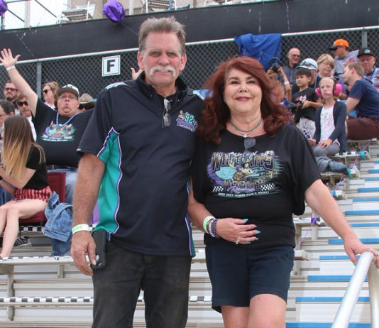 Oval Nationals Grand Marshal's Tom and Lauri Sertich. (Doug Allen Photo)