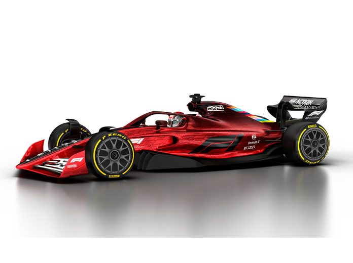A concept version of the 2021 Formula One race car.