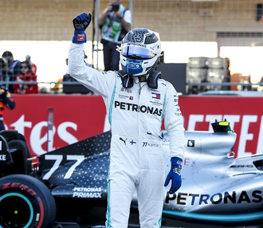 Valtteri Bottas earned his fifth pole of the season Saturday at Circuit of the Americas. (Mercedes Photo)