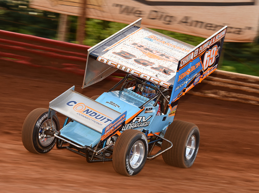 Lance Dewease at Lincoln Speedway. (Paul Arch Photo)