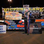 Shaun Harrell won the late model finale at Fayetteville Motor Speedway Saturday. (Hunter Thomas Photo)