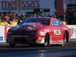 Erica Enders continued her march towards a third NHRA Pro Stock title Sunday in Las Vegas. (NHRA Photo)