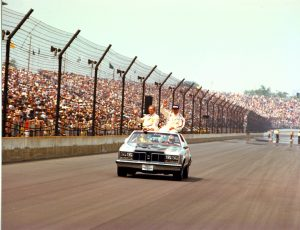 Tony Hulman and A.J. Foyt (IMS photo)