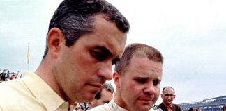 Roger Penske (left) with Mark Donohue.