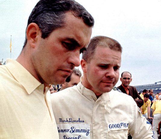 Roger Penske (left) with Mark Donohue.