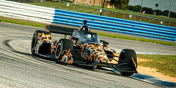 NTT IndyCar Series teams continued testing of the Aeroscreen Tuesday at Sebring Int'l Raceway.