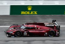 Mazda has already begun preparing for the Rolex 24 at Daytona Int'l Speedway. (IMSA Photo)