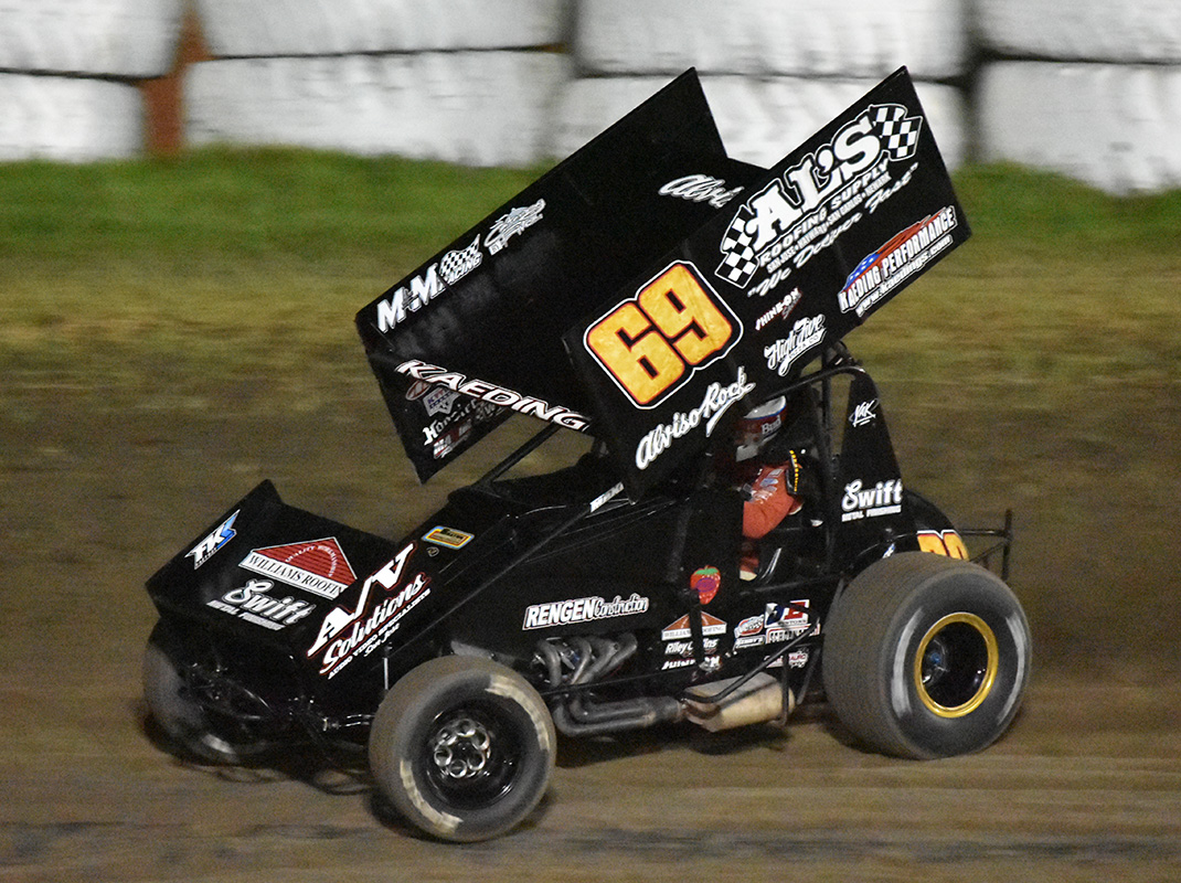 Brent Kaeding at Ocean Speedway in 2019. (Joe Shivak Photo)