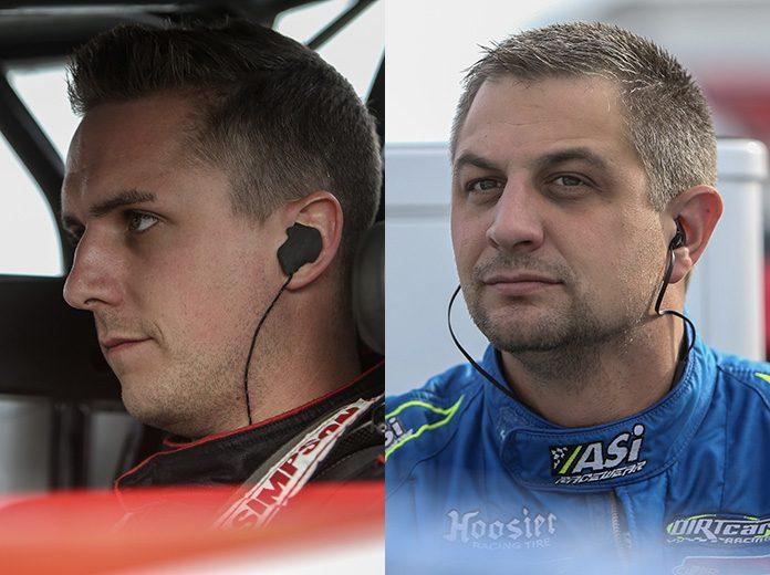 Mat Williamson (left) and Matt Sheppard (right) entered Friday's Can-Am World Finals action in a dead heat for the Super DIRTcar Series title. (Adam Fenwick Photos)