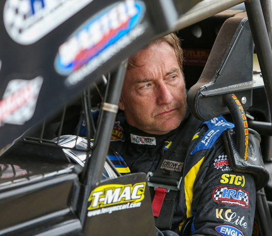 Terry McCarl during Thursday's portion of the Can-Am World Finals at The Dirt Track at Charlotte. (Adam Fenwick Photo)