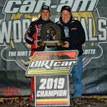 Super DIRTcar Series champion Mat Williamson (left) with team owner Buzz Chew. (Jim Denhamer Photo)