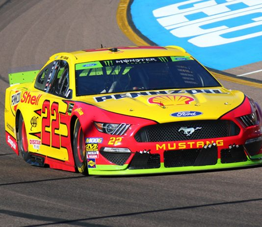 Joey Logano Sunday at ISM Raceway. (Ivan Veldhuizen Photo)