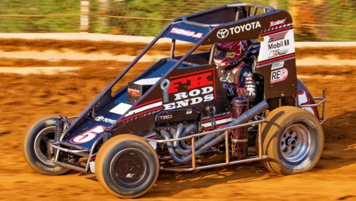 Kevin Thomas Jr. was fastest during USAC NOS Energy Drink National Midget Series practice on Thursday at Arizona Speedway. (Dave Dellinger Photo)