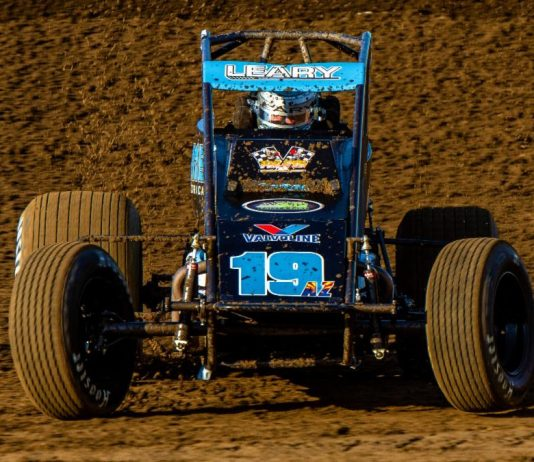 C.J. Leary paced USAC AMSOIL National Sprint Car Series practice on Thursday at Arizona Speedway. (Ryan Sellers Photo)