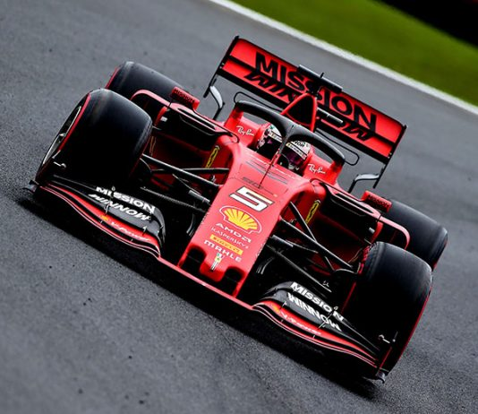 Sebastian Vettel was fastest in Formula One practice Friday in Brazil. (Ferrari Photo)