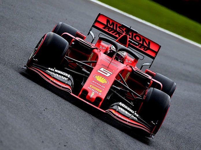 Sebastian Vettel was fastest in Formula One practice Friday in Brazil. (Ferrari Photo)