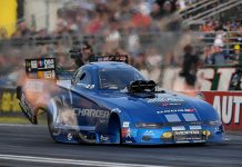Matt Hagan is the provisional No. 1 qualifier in the Funny Car class at the Auto Club NHRA Finals. (NHRA Photo)