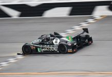 Mark Kvamme on track Friday at Daytona Int'l Speedway.