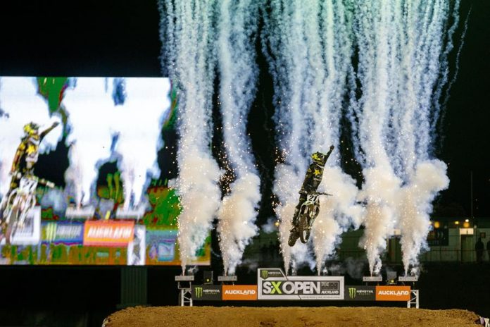 Jason Anderson claims victory in Auckland.