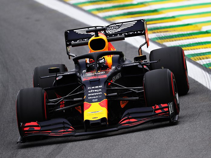 Max Verstappen qualified on the pole for the Brazilian Grand Prix. (Red Bull Photo)