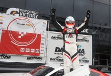 Chris Dyson raced to a dominant victory Saturday in the Trans-Am Series finale at Daytona Int'l Speedway.