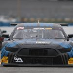 Thomas Merrill raced to victory in the Trans-Am Series TA2 finale Saturday at Daytona Int'l Speedway.