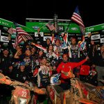 The American riders celebrate after claiming three championships during the International Six Days Enduro. (Mark Kariya Photo)